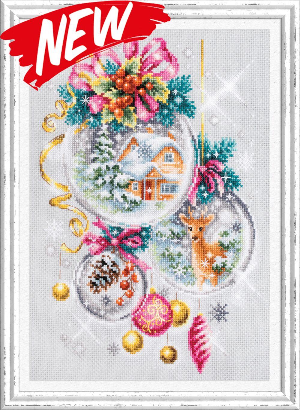 """Cross Stitch Kit MAGIC NEEDLE 120-012 /""""Autumn Improvisation/"""""""